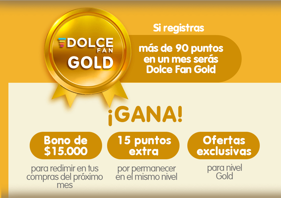 Dolce fan gold